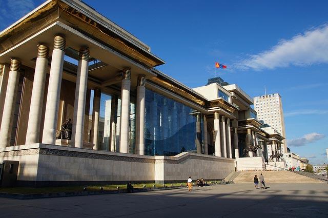 Das Parlament in Ulaanbaatar
