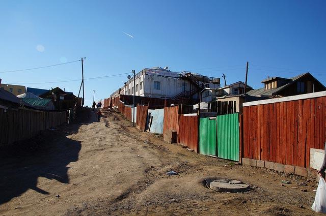 Straße in Ulaanbaatar