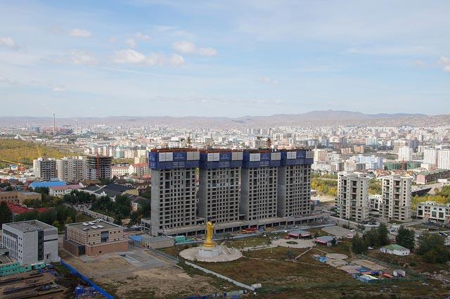 Blick vom sowjetischen Ehrenmal auf Ulaanbaatar