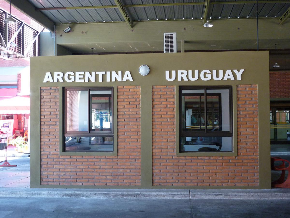 Grenze Uruguay - Argentinien