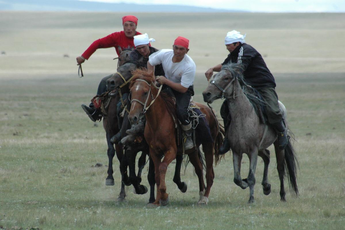 Buzkaschi in Kirgistan