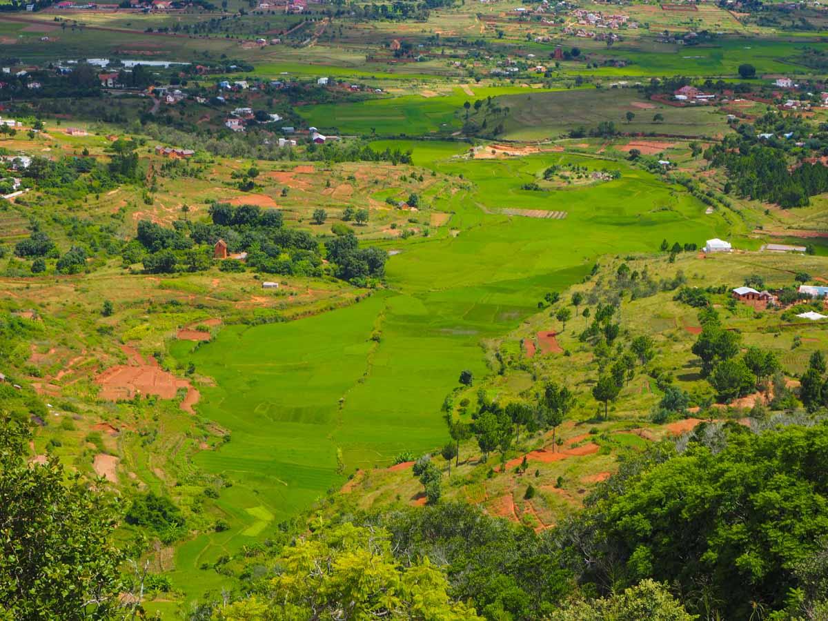 Blick von Ambohimanga Rova - der Umriss des Landes