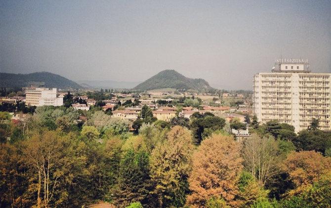 Abano Terme – Blick aus dem Hotelzimmer
