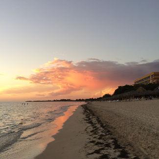 Playa Ancon bei Sonnenuntergang
