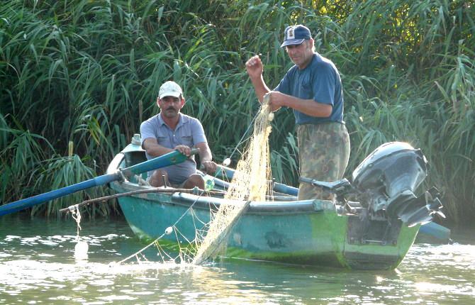 Angler im Donaudelta