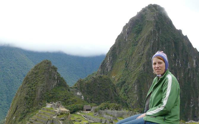 Anja auf dem Machu Picchu