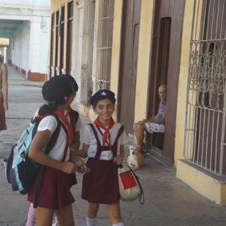 Schulkinder in Cienfuegos
