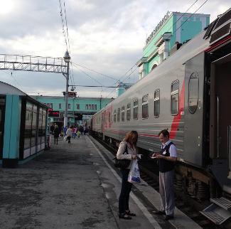 Provodnik im Bahnhof Novosibirsk