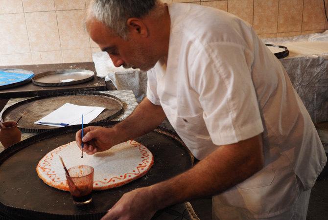 In einer Baklava-Manufaktur