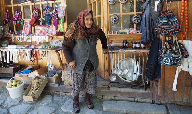 Ladenbesitzerin in Lahij