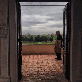 Blick von der Benediktinerabtei Santa Maria Assunta von Praglia