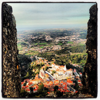 Blick von der Maurenburg auf Sintra