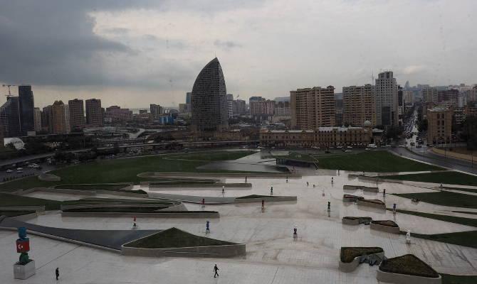 Blick vom Heydar Aliyev Cultural Center