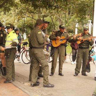 Musizierende Polizei