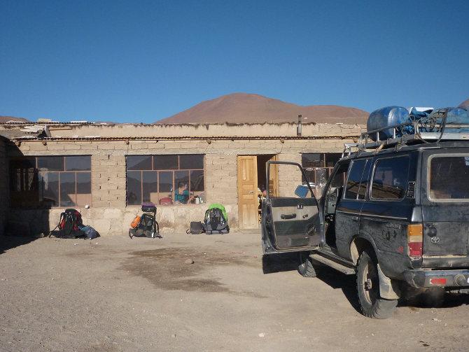 Unterkunft bei der Laguna Colorada