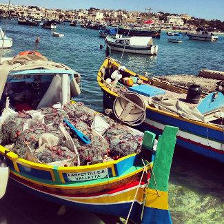 Luzzu in Marsaxlokk