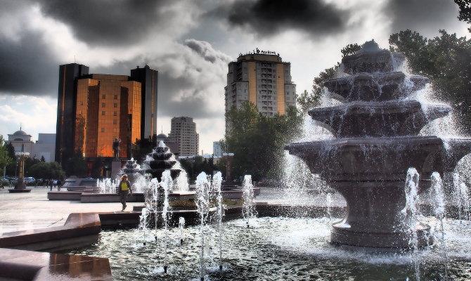 In der Innenstadt Bakus