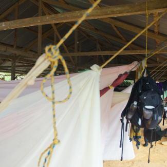 Unser Schlafplatz im ersten Camp