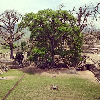 Blick von oben, Copan Honduras
