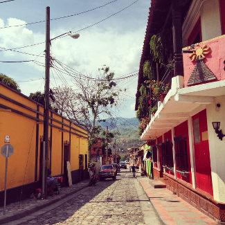 Straße in Copan