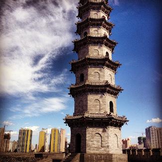 Auf der Stadtmauer von Datong