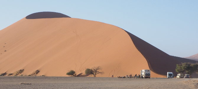 Düne 45 – die am meisten fotografierte Düne Namibias