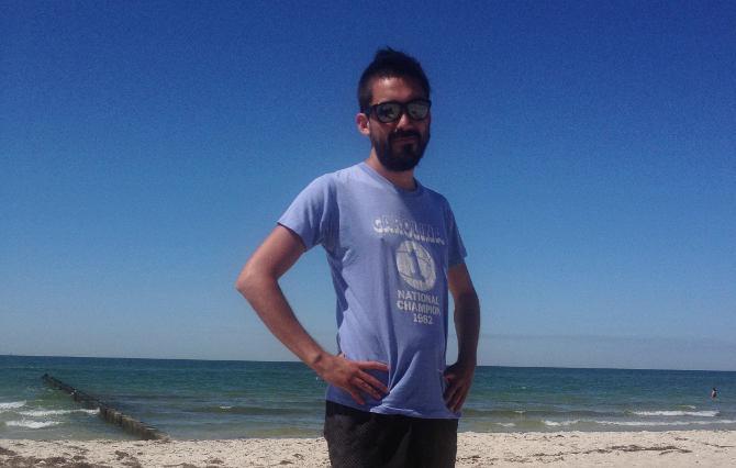 Felipe am Strand