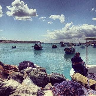 Blick in die Bucht vor Marsaxlokk