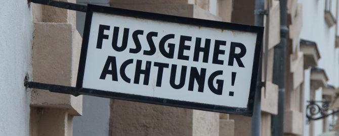 Fussgeher in Wien