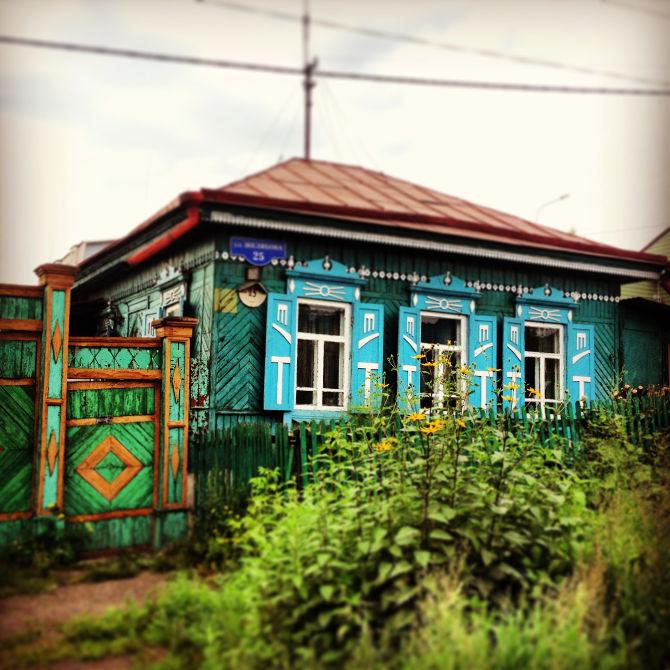 Holzhaus in Krasnojarsk