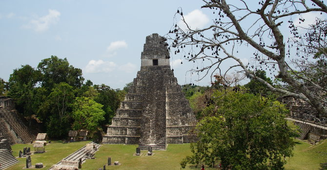 Blick auf Tempel I, Tikal Guatemala