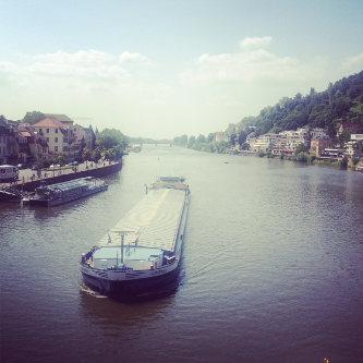 Heidelberg mit Blick auf den Neckar