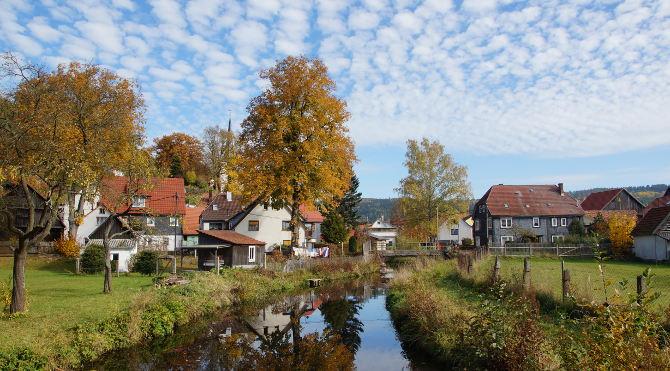 Dorfblick von der Nahe