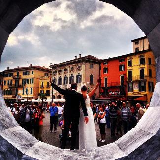 Hochzeitspaar in Verona