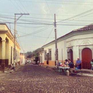 Straßenzug in Suchitoto