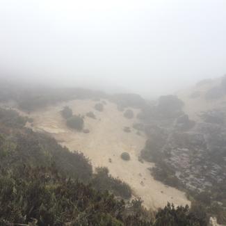 Sand weht durch die Luft