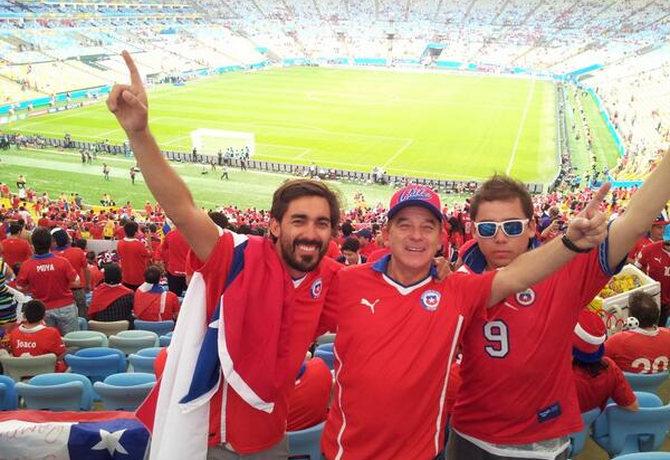 Unser puriy-Außenreporter beim Jubel im Stadion