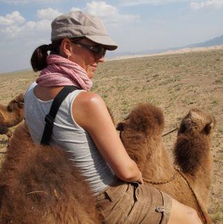 Nein, ich bin nicht vom Kamel gefallen!