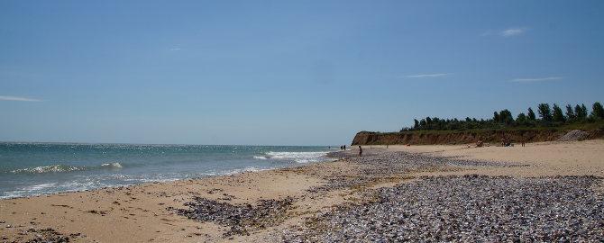 Strand von Krapets für Muschelsucher