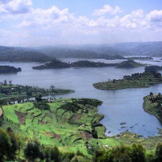 Die Inselwelt im Bunyonyi-Sees