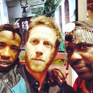 Lars wieder mal in Afrika