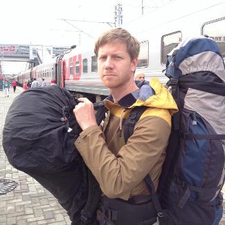 Auf dem Bahnhof in Kasan