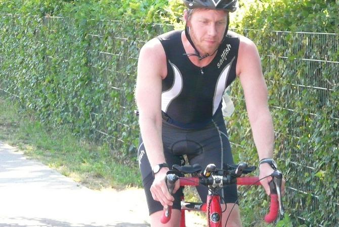 Lars beim Müritz Triathlon