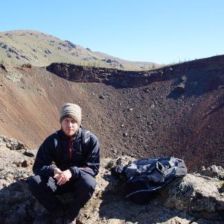 Lars auf dem Vulkan