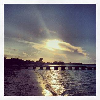 Sonnenuntergang am Strand von Las Brujas
