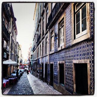 Häuser mit Azulejos