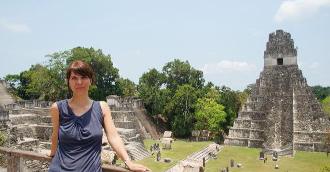 Tikal, Toller Ausblick von hier oben (Tempel II)
