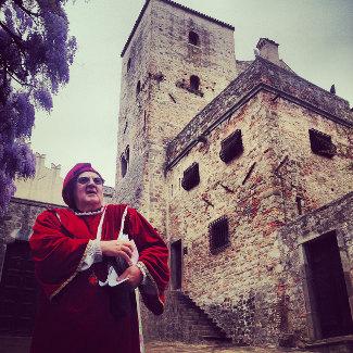 Der Geist Petrarcas vor dem Castello von Monselice