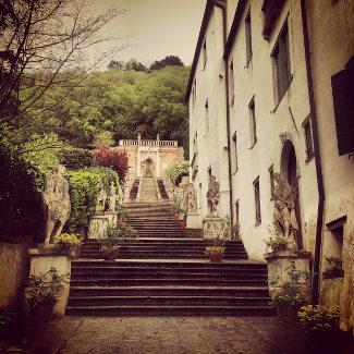 Treppe der Villa Nani-Moncenigo in Monselice
