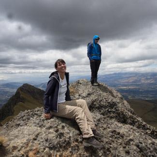 Madlen mit José auf dem Gipfel